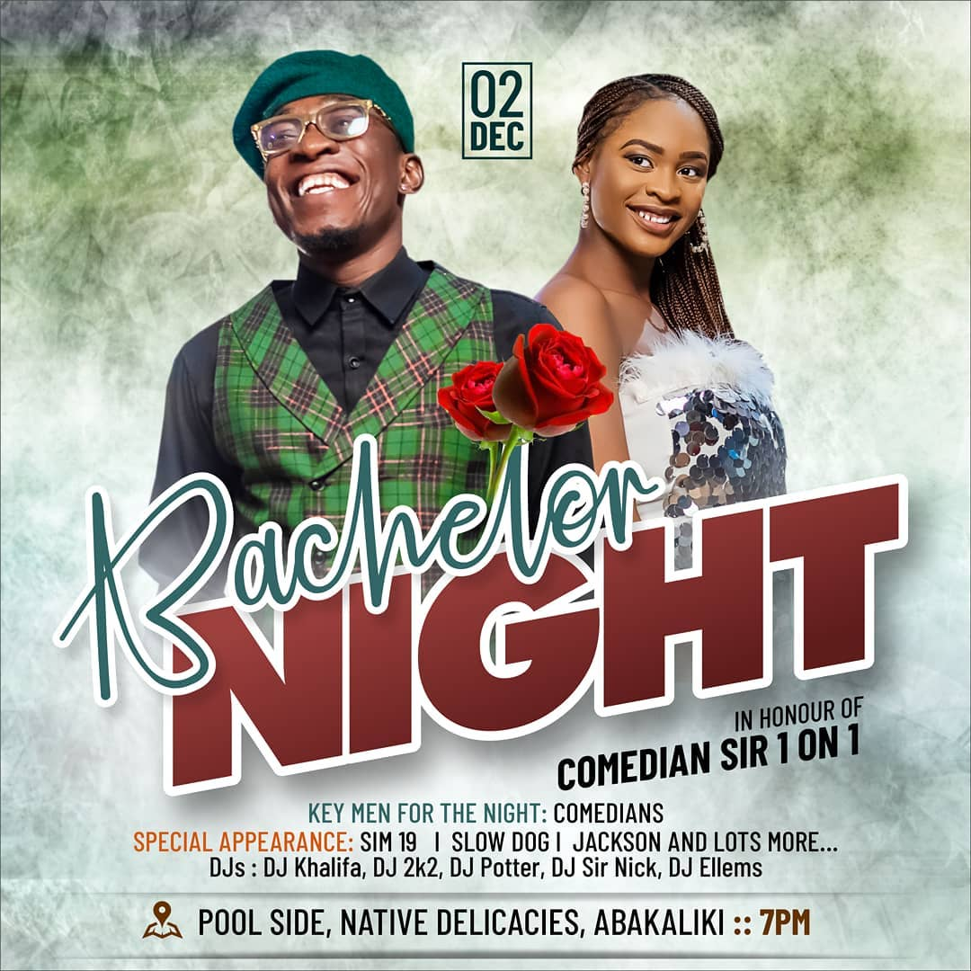 Comedian Sir One On One Bachelors Night