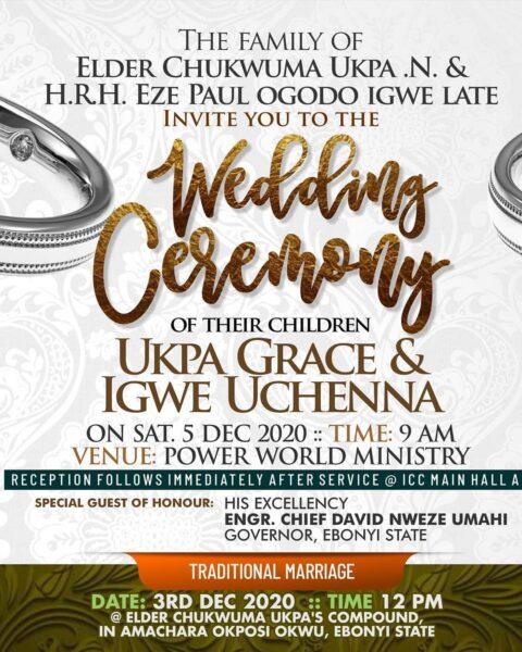 Comedian Sir One On One Wedding Invitation