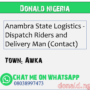 Anambra State Logistics – Dispatch Riders and Delivery Man (Contact)