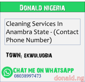 EKWULUOBIA - Cleaning Services In Anambra State - (Contact Phone Number)