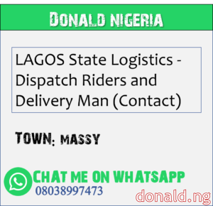 MASSY - LAGOS State Logistics - Dispatch Riders and Delivery Man (Contact)