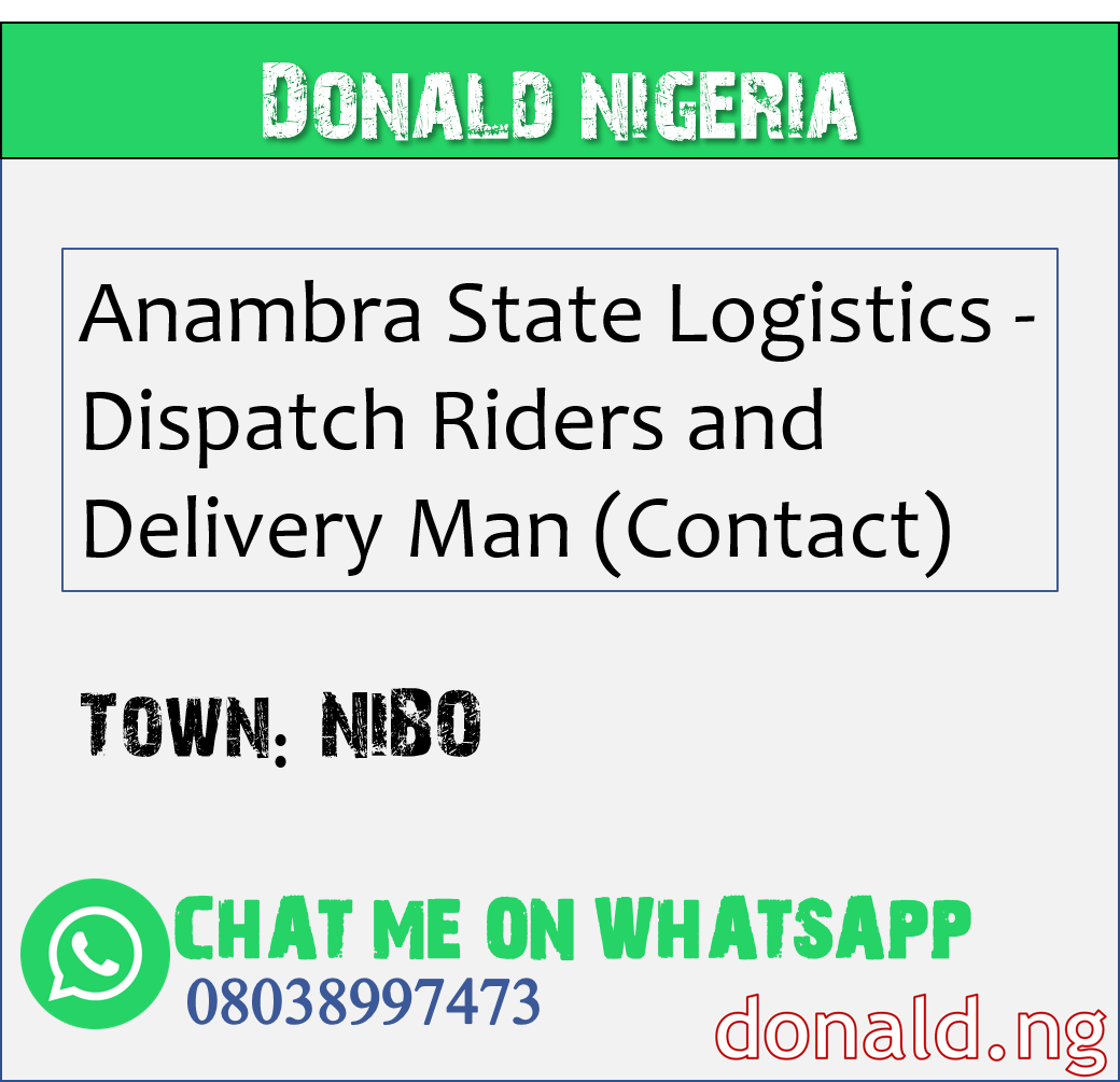 NIBO - Anambra State Logistics - Dispatch Riders and Delivery Man (Contact)