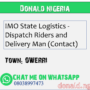 IMO State Logistics – Dispatch Riders and Delivery Man (Contact)
